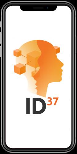 NovuGens ID37 logo on smartphone